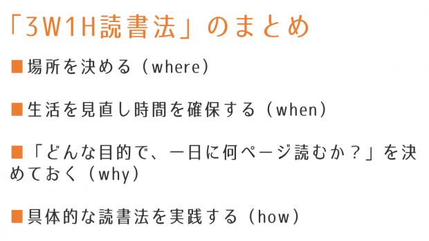 3W1H読書法まとめ